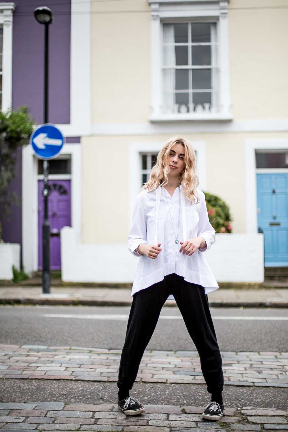 Versatile monochrome Sunday outfit  // A Week Of Vibrant & Global Outfits With Francesca Willow From Ethical Unicorn on The Good Trade
