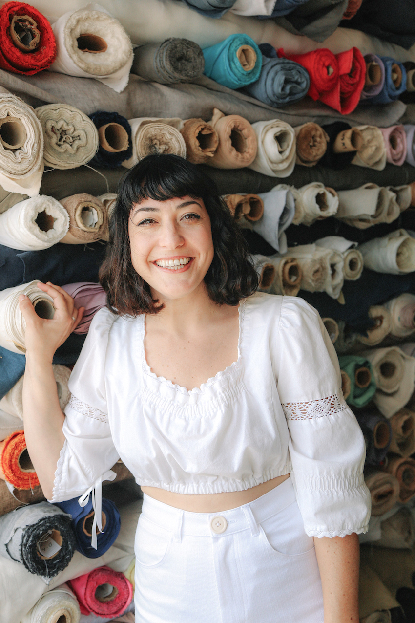 All white summer outfit // A Week Of Made-In-LA Outfits With Rachel Temko, Founder Of Whimsy + Row on The Good Trade