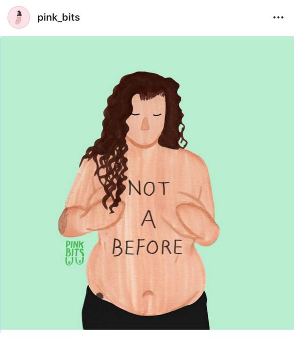 Feminist Body Positive Instagram Account - Pink Bits