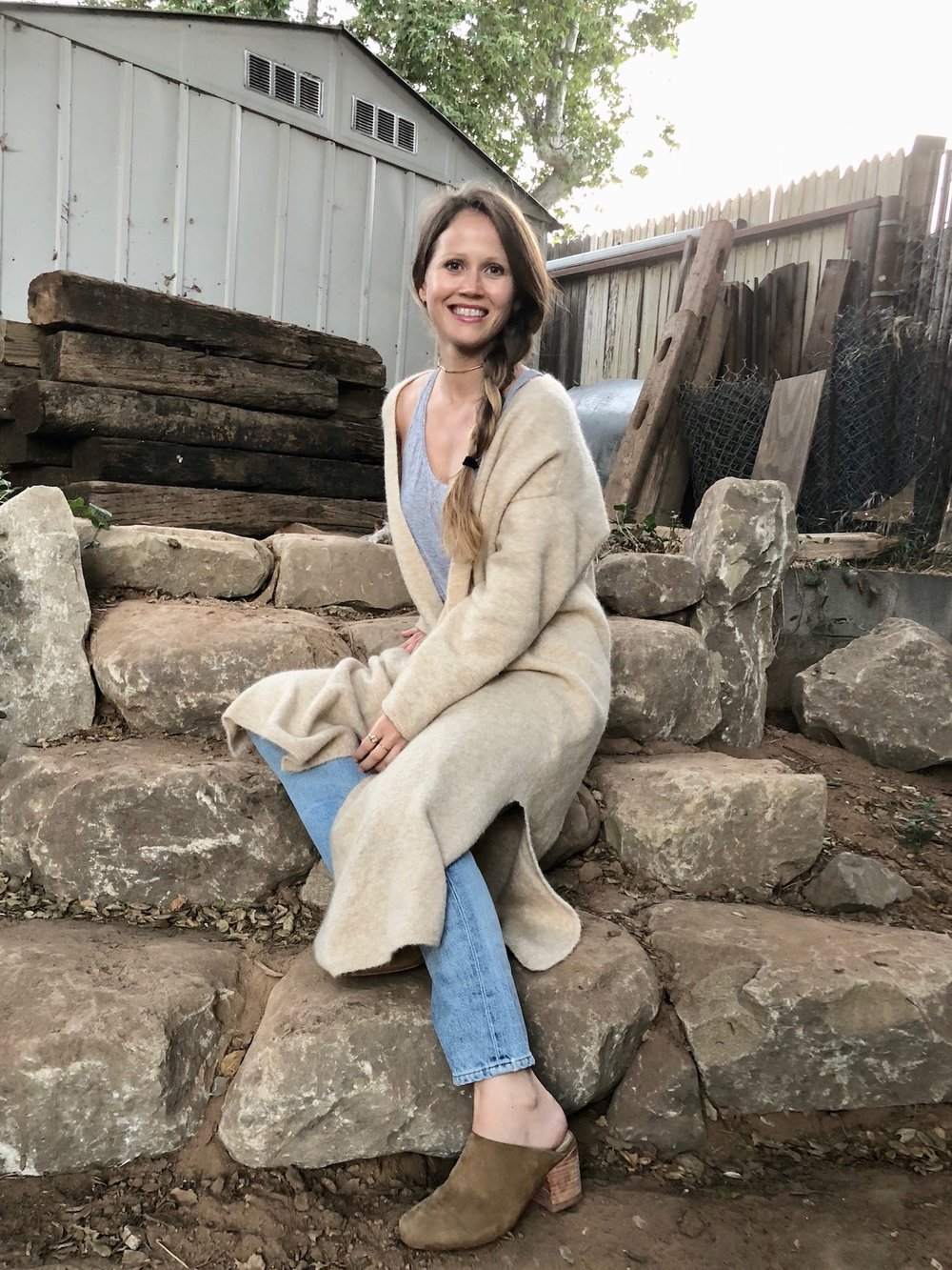 Cozy sweater and denim // A Week Of Tried-And-True Wardrobe Staples With Zoe Cleary, Founder Of Nisolo on The Good Trade