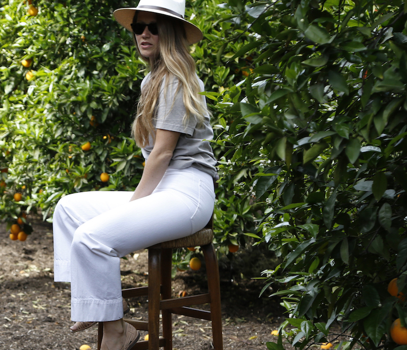 Summer hat and casual chic outfit // A Week Of Tried-And-True Wardrobe Staples With Zoe Cleary, Founder Of Nisolo on The Good Trade