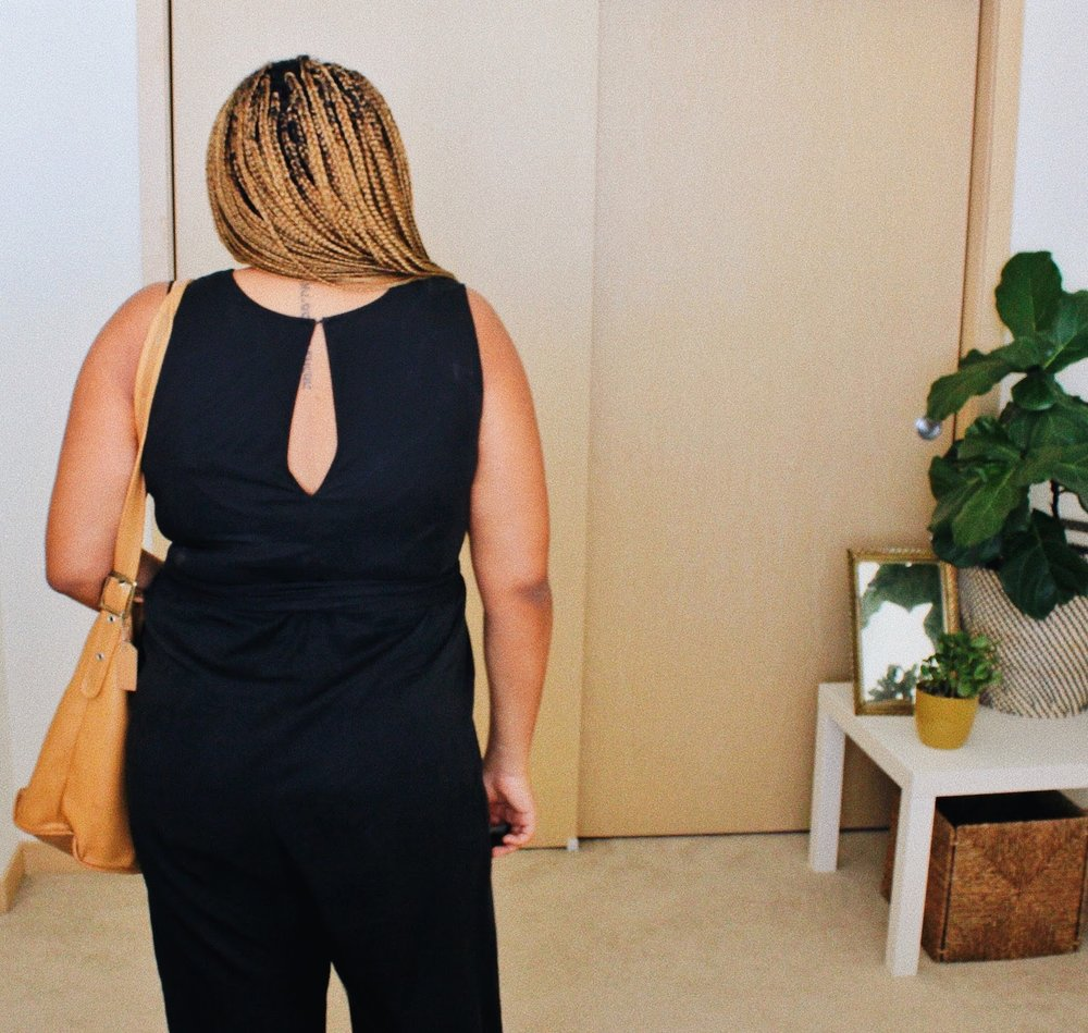 Hackwith Design House Jumpsuit // A Week Of Boho Minimalist Outfits With Deborah Shepherd From Clothed In Abundance on The Good Trade