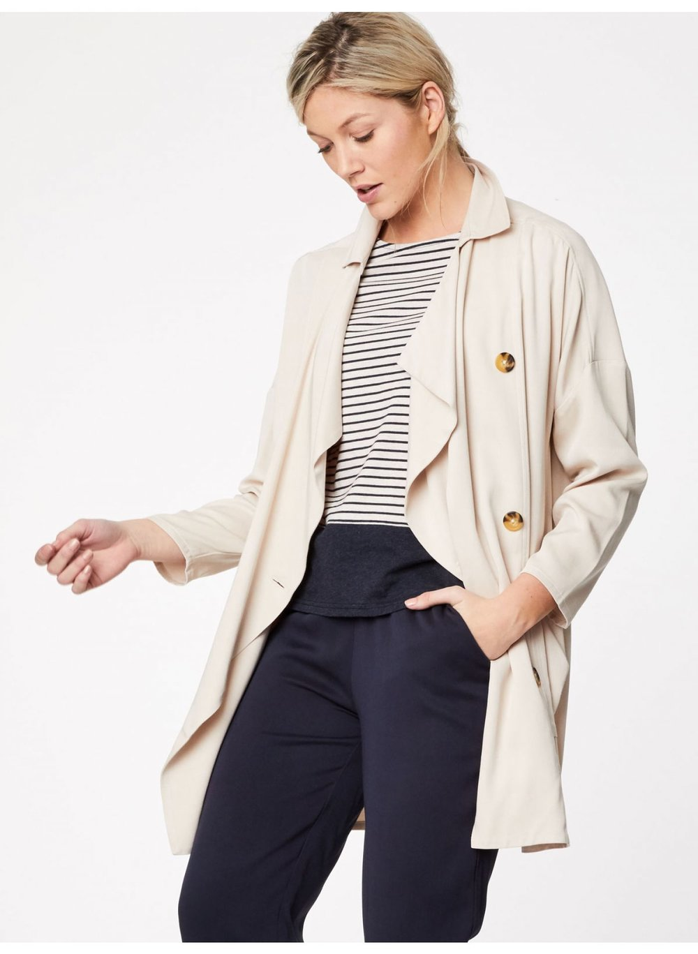Modal And Bamboo Blend Waterfall Jacket from Thought Clothing