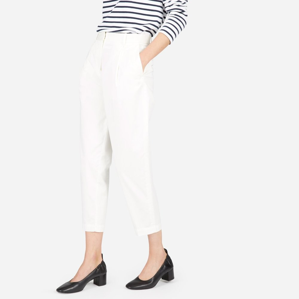 Everlane Slouchy Chino Pant in White