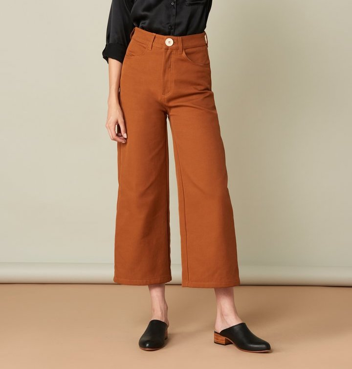 Whimsy + Row Flora Pant in Rust
