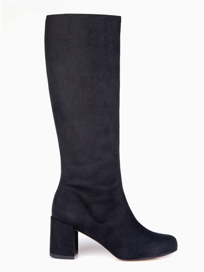 Vegan Boots For Fall & Winter - Beyond Skin Knee High Faux Suede Black Boots