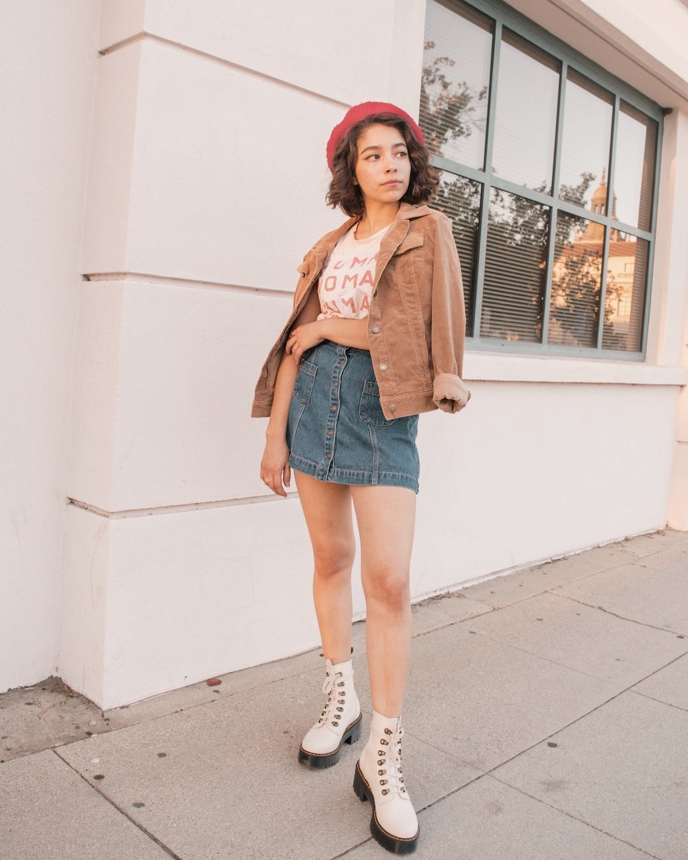 Denim and corduroy outfit with Everlane top // A Week Of Self-Expressive Outfits With Aja Duran From Aja With Love on The Good Trade