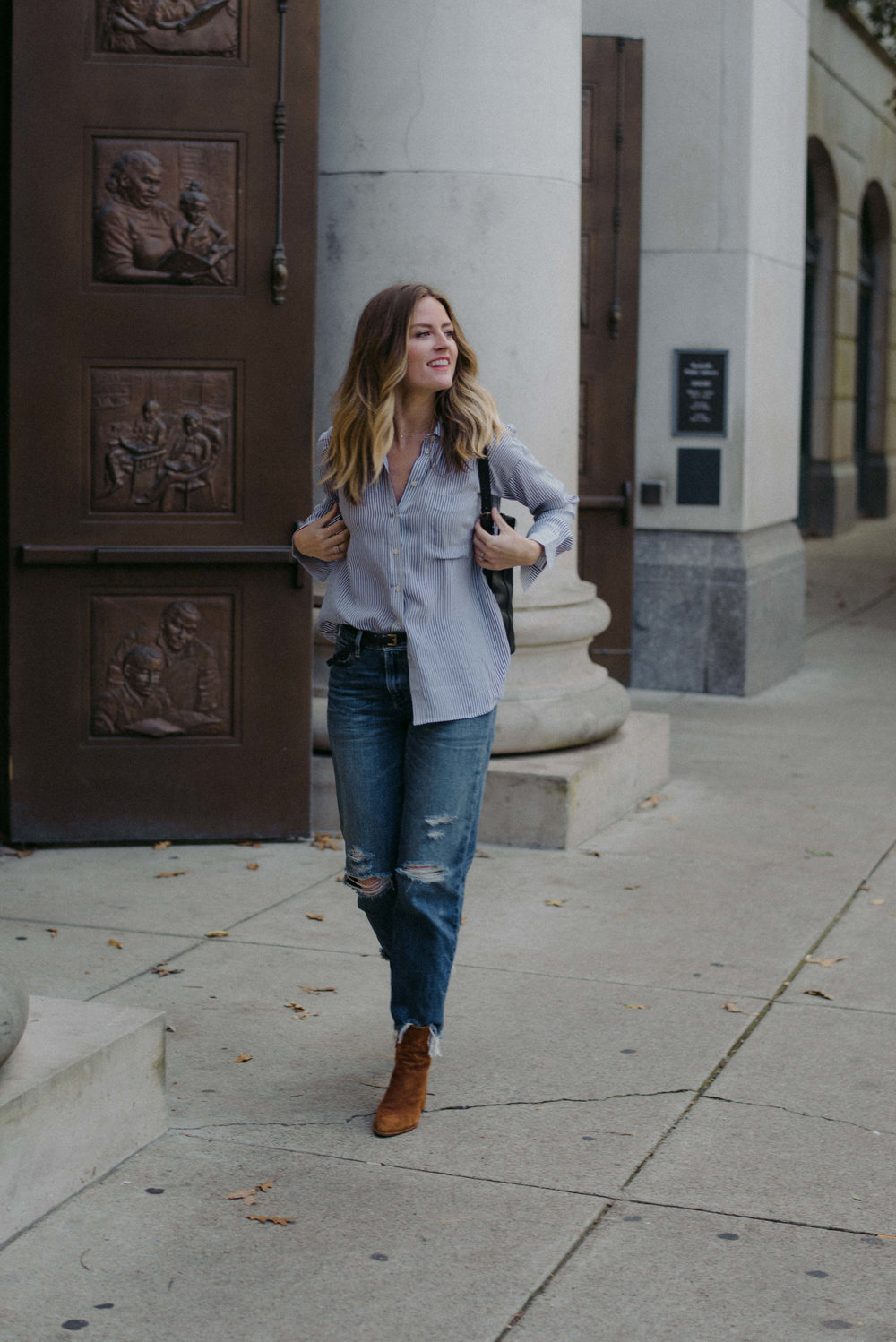 Nashville casual fall outfit // A Week Of  Nashville-Chic Ethical Outfits With Jordan Soderholm, Fashion Director At ABLE on The Good Trade