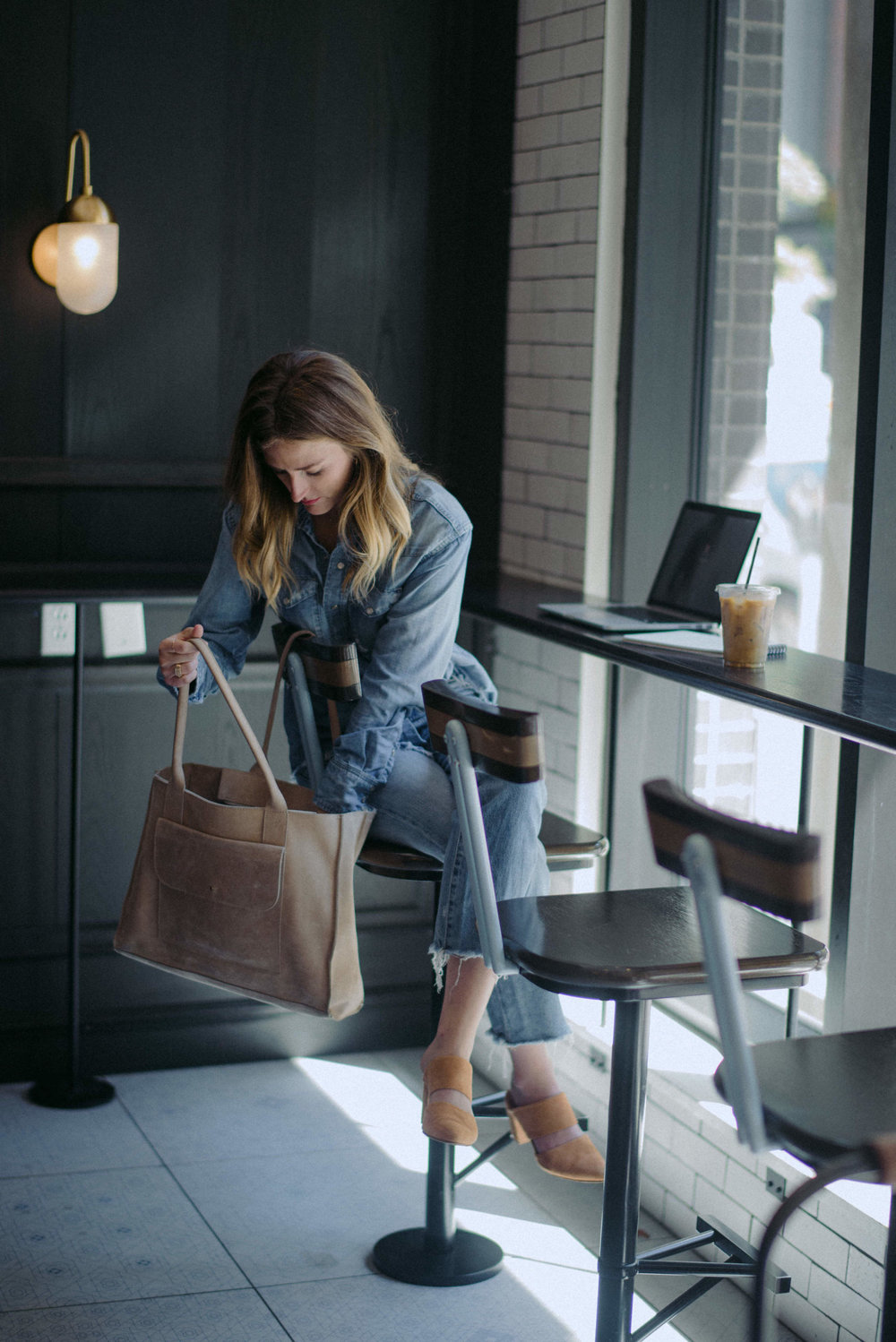 Denim on denim outfit // A Week Of  Nashville-Chic Ethical Outfits With Jordan Soderholm, Fashion Director At ABLE on The Good Trade