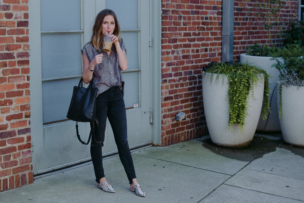 Sunday coffee outfit // A Week Of  Nashville-Chic Ethical Outfits With Jordan Soderholm, Fashion Director At ABLE on The Good Trade