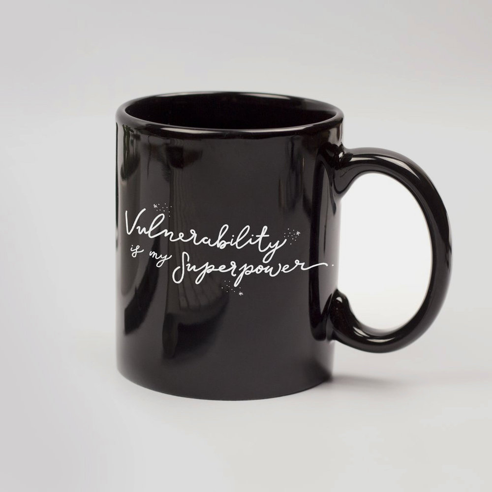 Vulnerability is my superpower mug—Shop Compliment  — Dazey LA - Feminist Holiday Gifts That Empower Women on The Good Trade