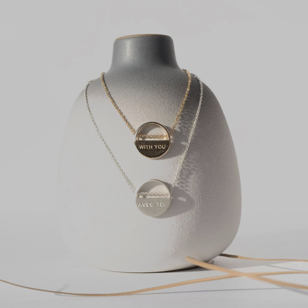 WITH YOU/FRENCH NECKLACE— SheIsMe — Dazey LA - Feminist Holiday Gifts That Empower Women on The Good Trade
