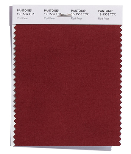 Unpacking Pantone's Fall Color Picks - Red Pear
