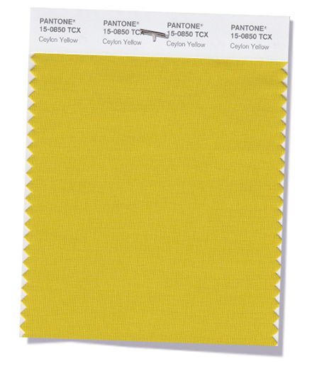 Unpacking Pantone's Fall Color Picks - Ceylon Yellow