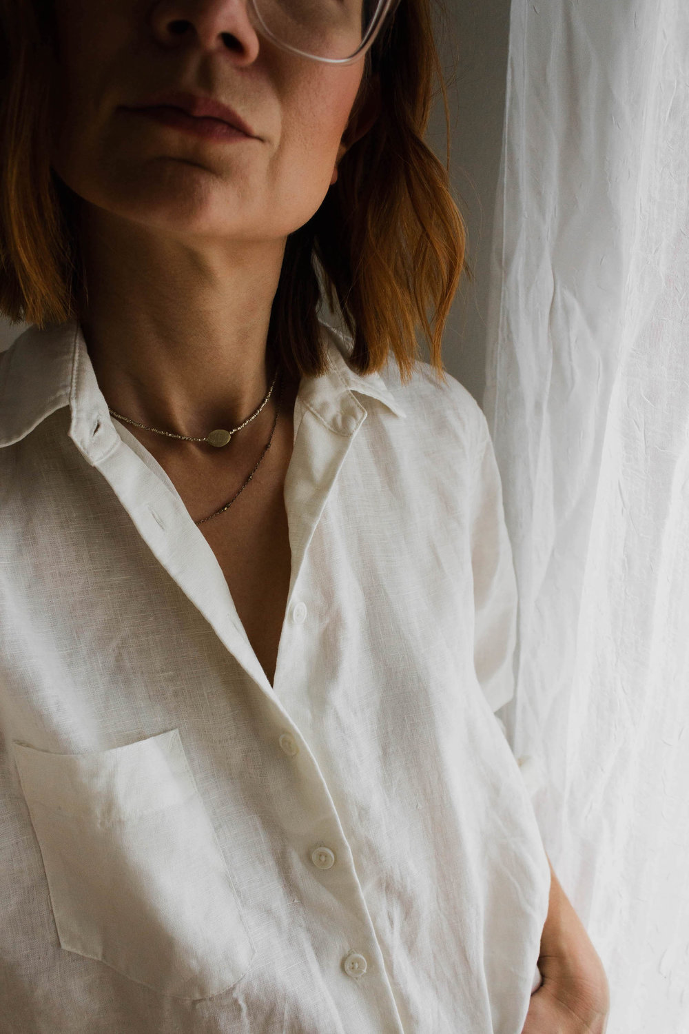 White linen shirt - A Week Of Easy & Sophisticated Outfits With Karin Rambo From Truncation on The Good Trade