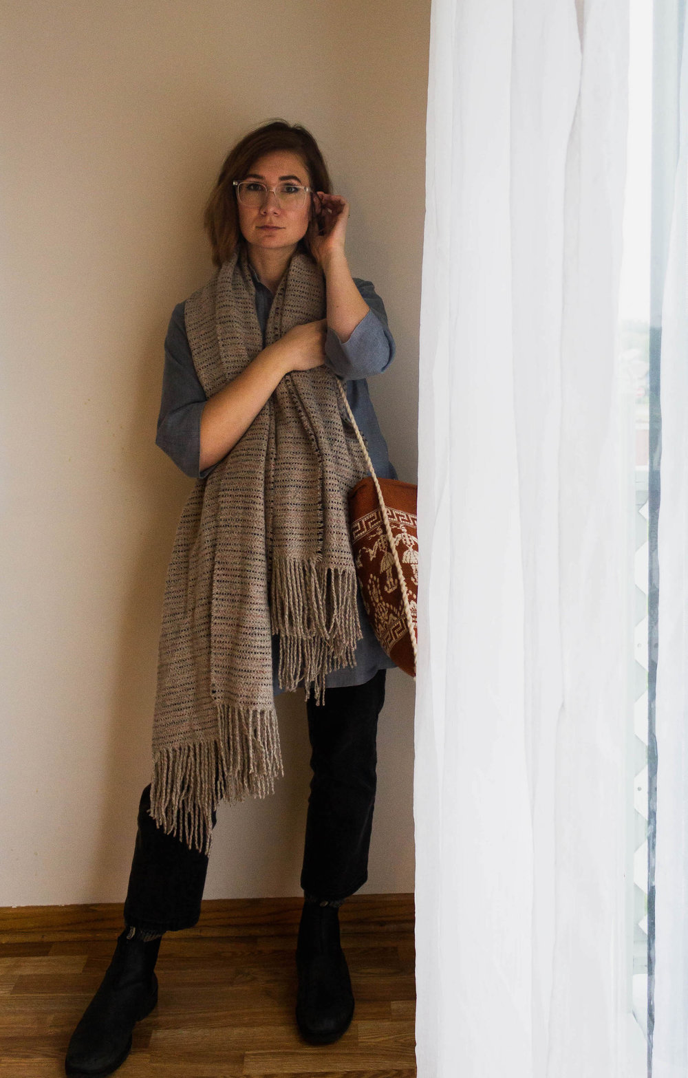 Cozy fall outfit - A Week Of Easy & Sophisticated Outfits With Karin Rambo From Truncation on The Good Trade