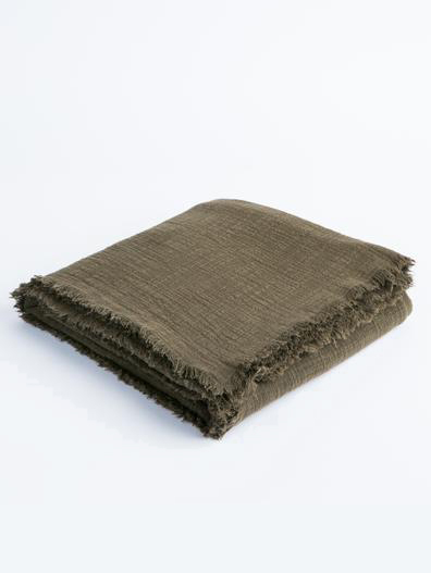 Plant-Dyed Throw from 31 Bits - Zero Waste Holiday Gift Guide on The Good Trade