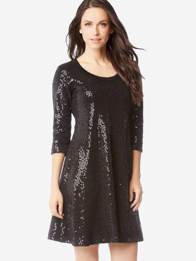 Sequin Sweater Dress from Karen Kane - Sparkling Sustainable Fashion Statement Pieces on The Good Trade