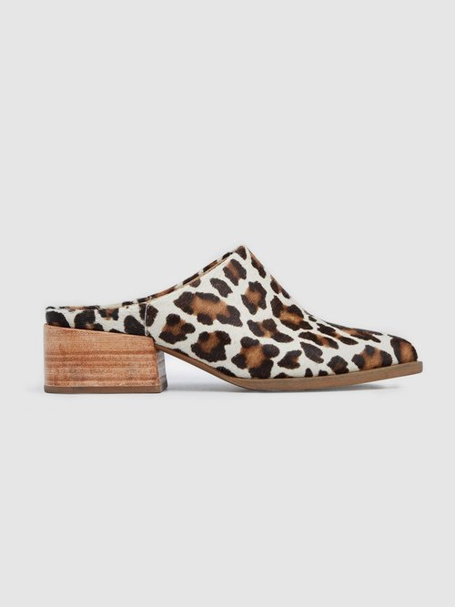 Miriam Mule from ABLE - Leopard Print Ethical Fashion on The Good Trade