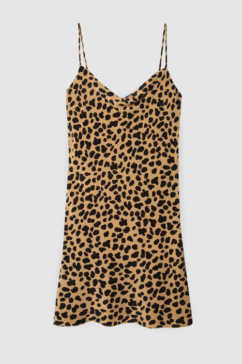 Twiggy Dress by Rixo - Leopard Print Ethical Fashion on The Good Trade