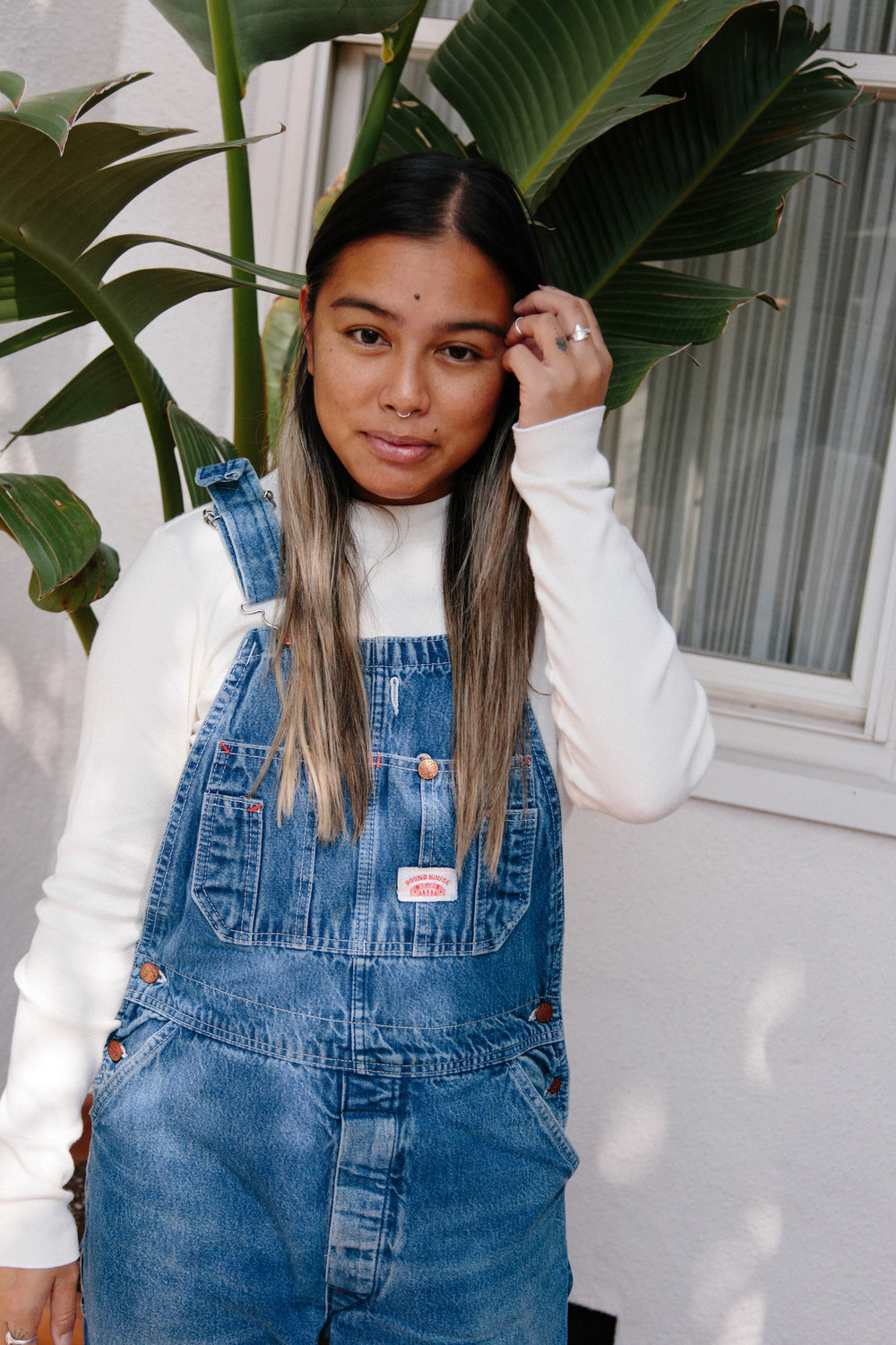 Vintage denim overalls with long sleeves - A Week Of Super-Chill Conscious Fashion With Isadora Alvarez, Founder Of Back Beat Rags on The Good Trade
