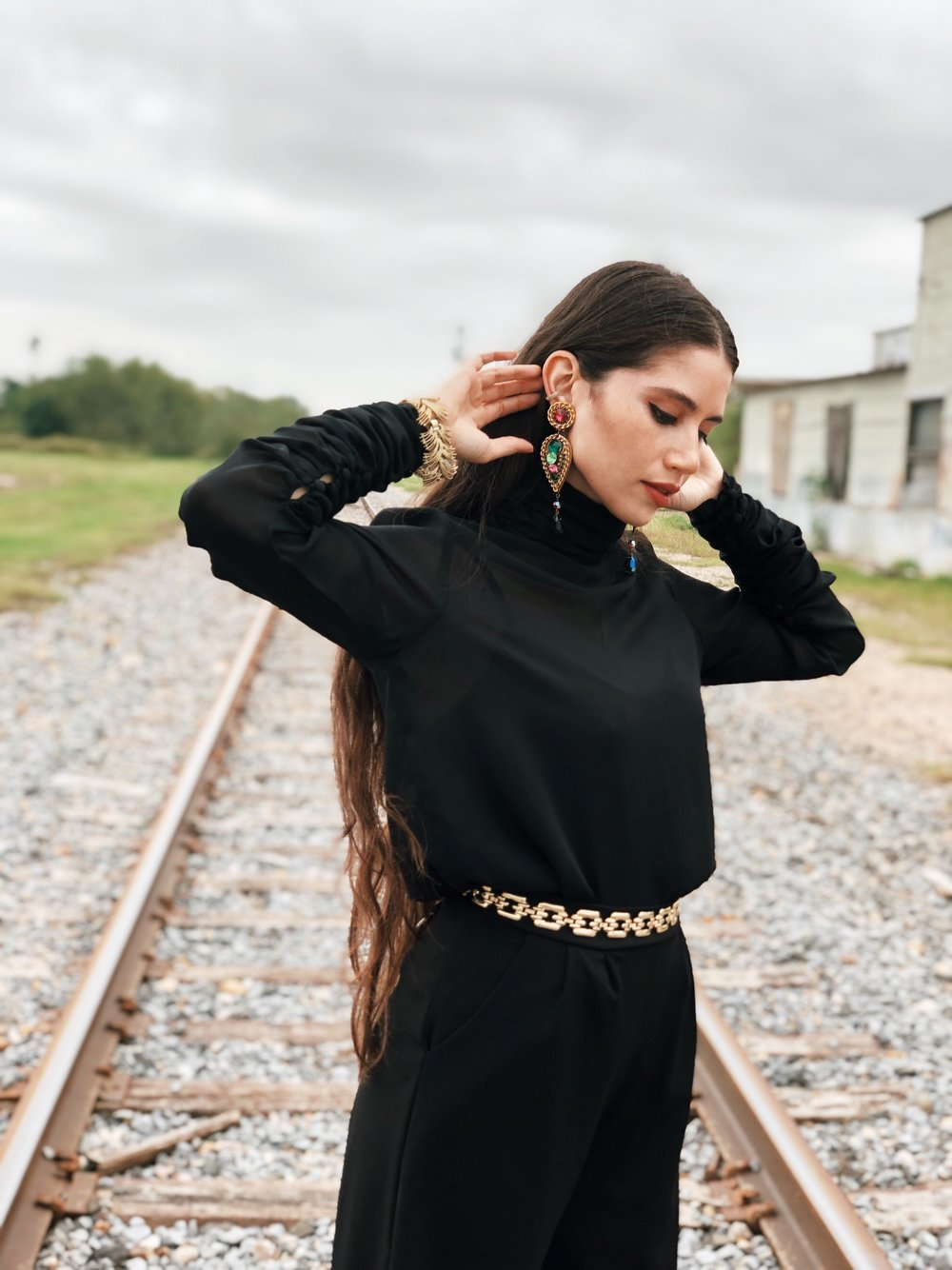Black and gold outfit - A Week Of Cruelty-Free Outfits & Vegan Beauty With Jessica Salazar From All There August on The Good Trade