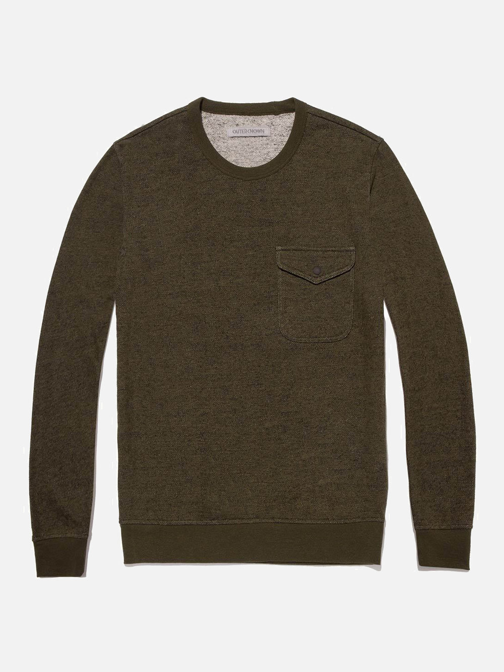 Pavement Sweatshirt by Outerknown | Men's Capsule Wardrobe on The Good Trade