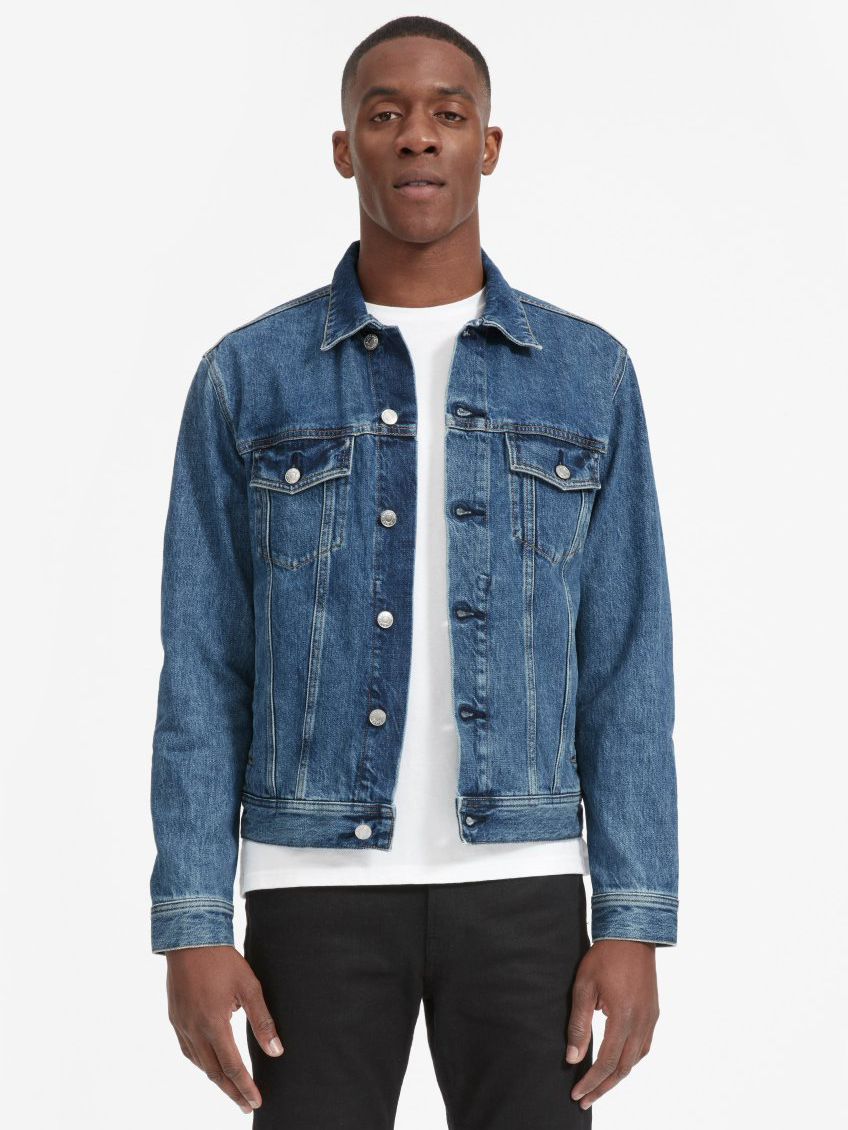 The Denim Jacket by Everlane | Men's Capsule Wardrobe on The Good Trade