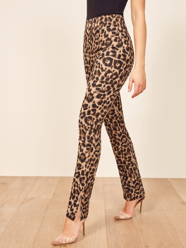 Reformation Leopard Print Pant // Hollywood Outfit Inspiration - A Star Is Born
