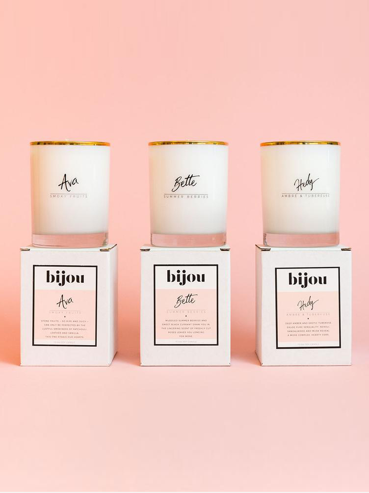 Boudoir Blend 3-Candle Set | Bijou // Sustainable Valentine's Day Gifts For Men on The Good Trade
