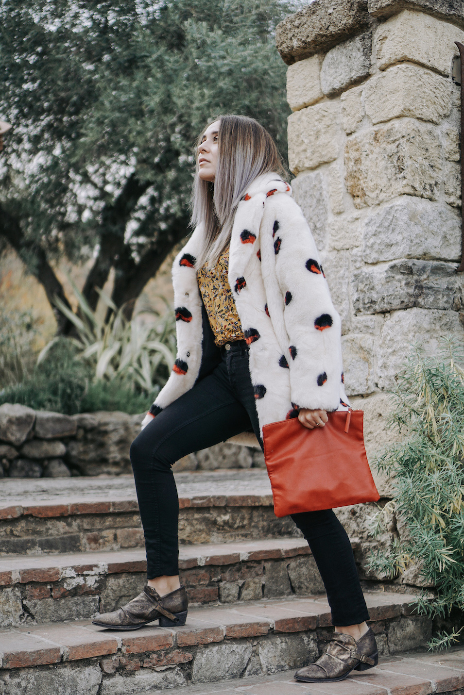 Thrifted Polka Dot Coat // A Week Of Uncompromising Sustainable Style With Sonia Kessler From Native Styling on The Good Trade