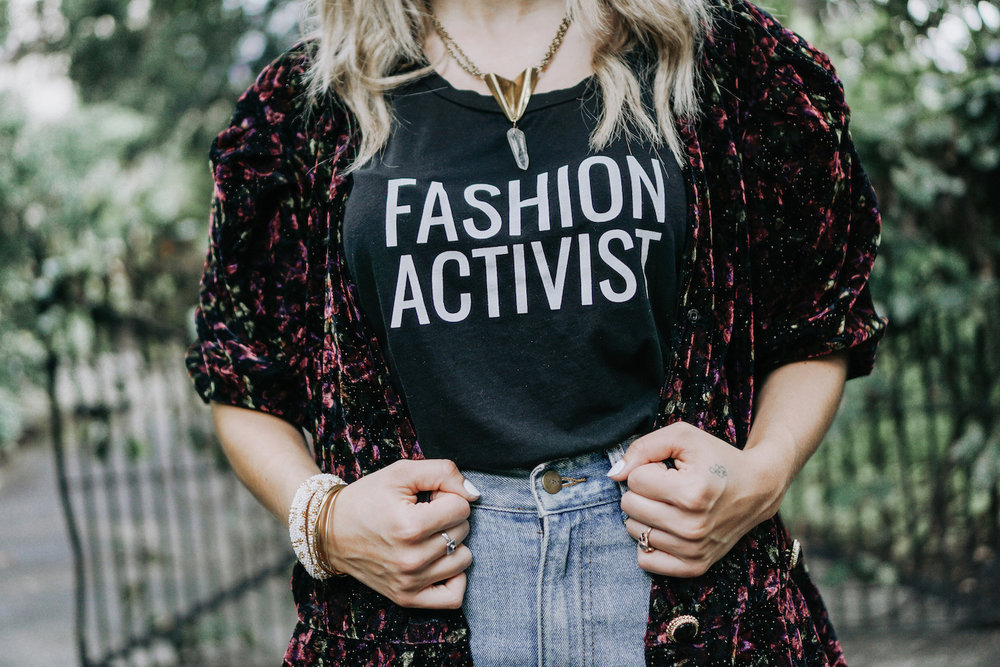 Fashion Activist t-shirt // A Week Of Uncompromising Sustainable Style With Sonia Kessler From Native Styling on The Good Trade