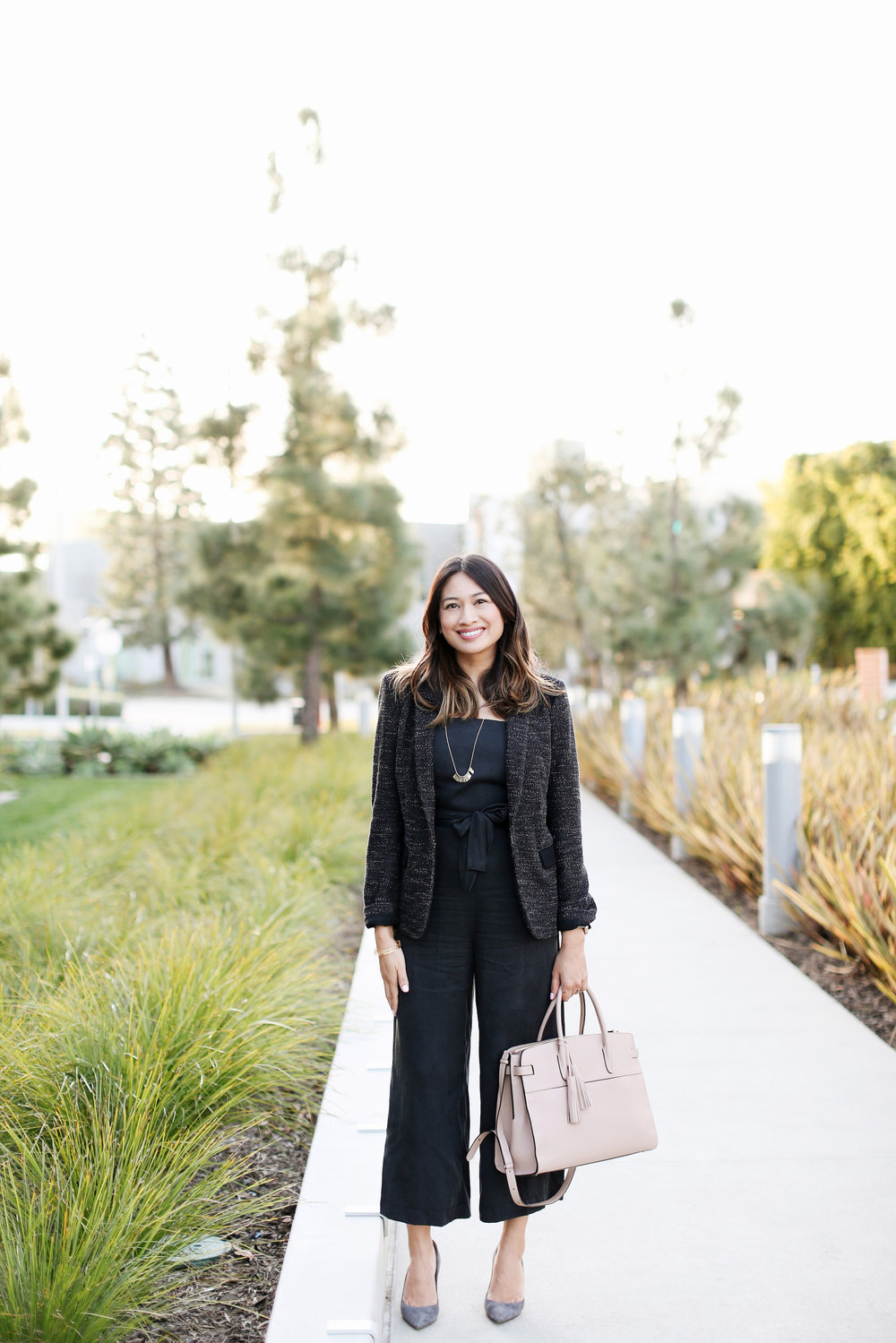 Black jumpsuit for work | A Week Of Polished & Professional Outfits With Sustainable Lifestyle Blogger Jonilyn Brown on The Good Trade