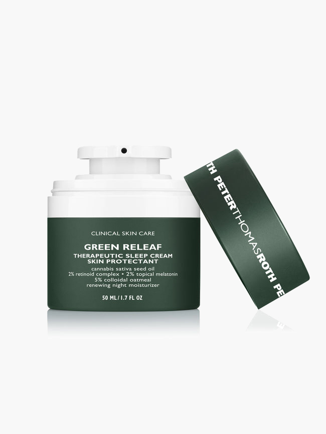 Hemp Based Beauty Products - Peter Thomas Roth Green Releaf Therapeutic Sleep Cream