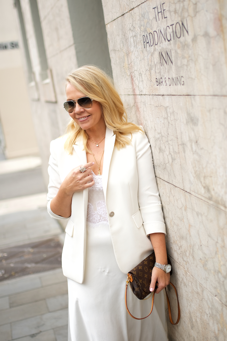 All white outfit inspiration // A Week Of Designer-Inspired Salvation Army Finds With Faye De Lanty From Fashion Hound on The Good Trade