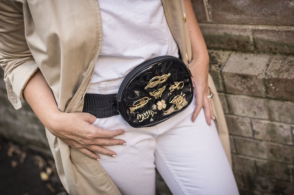 DIY designer-inspired belt bag // A Week Of Designer-Inspired Salvation Army Finds With Faye De Lanty From Fashion Hound on The Good Trade