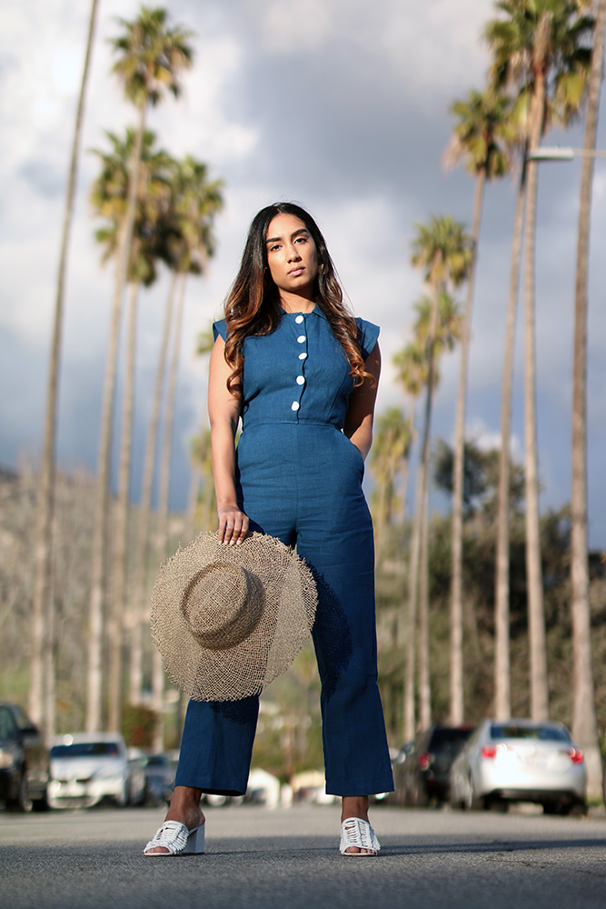 Summer jumpsuit styling // A Week Of Thoughtful & Modern Outfits With Kat Vargas From Finding Katnis on The Good Trade