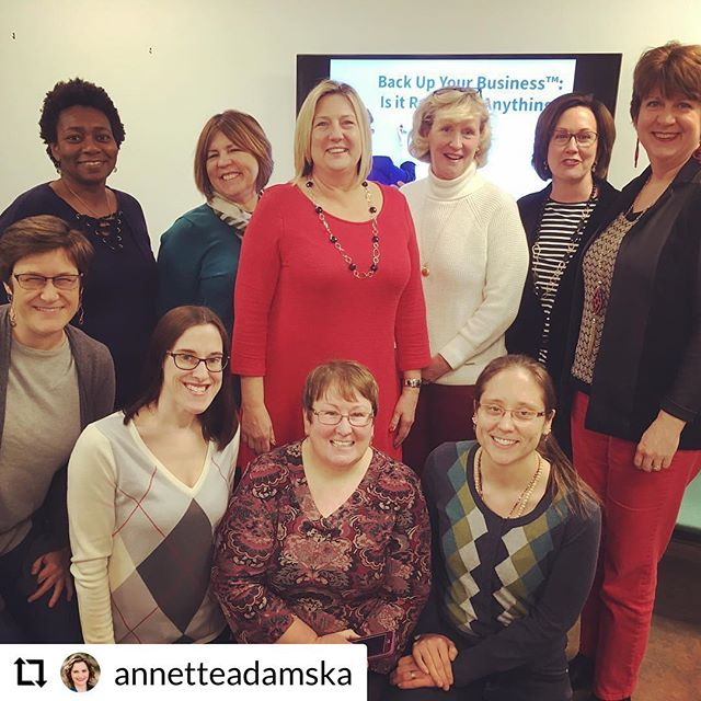 Repost from Back Up Your Business Founder @annetteadamska! . She just hosted a presentation with sneak peek content for #napo2019 . Are you a NAPO member? Will you be at Conference in Fort Worth in April? We hope to see you at Session 2-4 entitled BACK UP YOUR BUSINESS: IS IT READY FOR ANYTHING? #backupyourbusiness #backupyourlife #framework #presentation #conference #napo