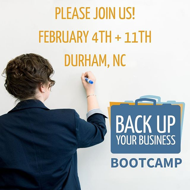 Are you are a small business owner in the Triangle and READY to truly set your business up for success? . I'd love to invite you to my next in person Back Up Your Business™ Bootcamp. . It begins in TWO WEEKS (Monday, February 4th) and is optimal for those who KNOW they need to do this work, but don't carve out the TIME to do it. . Participate with other business owners in the same boat as you, and we'll keep that ship sailing together, AND in the right direction. . Link in bio. . #backupyourbusiness #backupyourbusinessbootcamp #business #smallbusiness #document #store #share #framework #speaking #ceo #ceolife #beingboss #betheboss #workshop #implement #obliger #bootcamp #durhamnc #durham #thefrontier #bettertogether