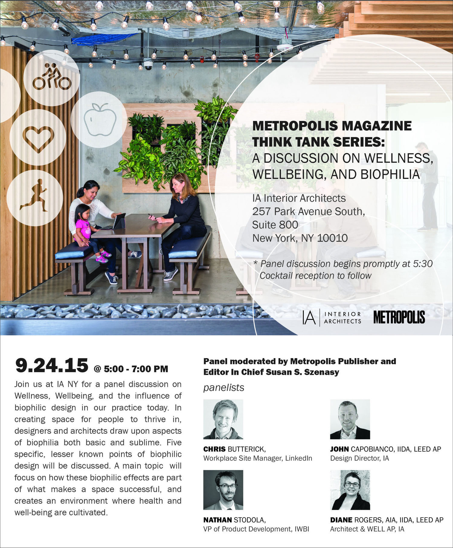 Metropolis Magazine - Think Tank Series: Discussion on Wellness