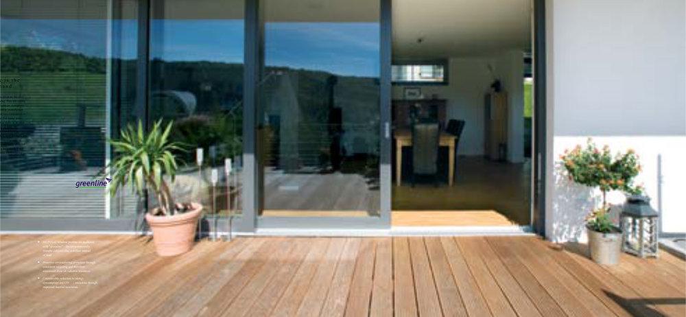 skjutdörrar veranda