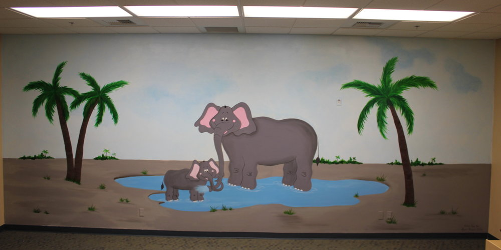Elephants in water - The Grove Community Church
