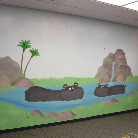 Hippos in water - The Grove Community Church