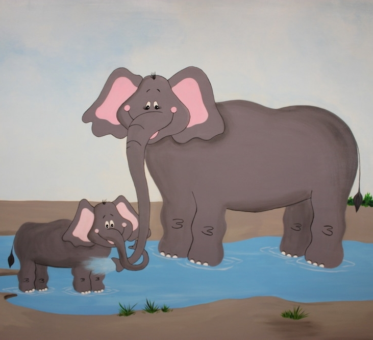 Mama and baby elephant - The Grove Community Church