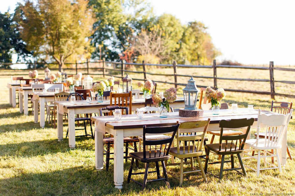 Timeless Farmhouse Tables Wedding Event Rentals Lancaster PA - Farmhouse table restaurant