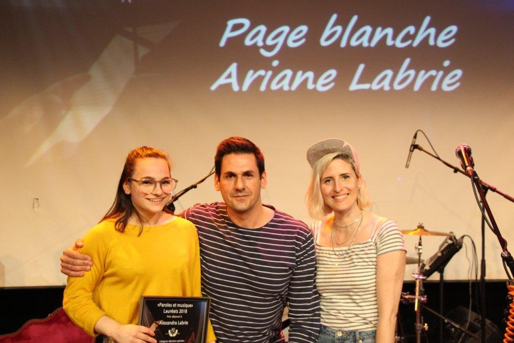 Ariane Labrie, auteure du texte Page blanche