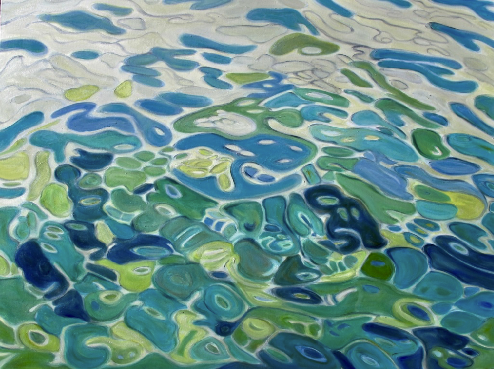Jan Fordyce, Beneath the Surface #2, oil and resin on canvas, $3800 retail.jpg