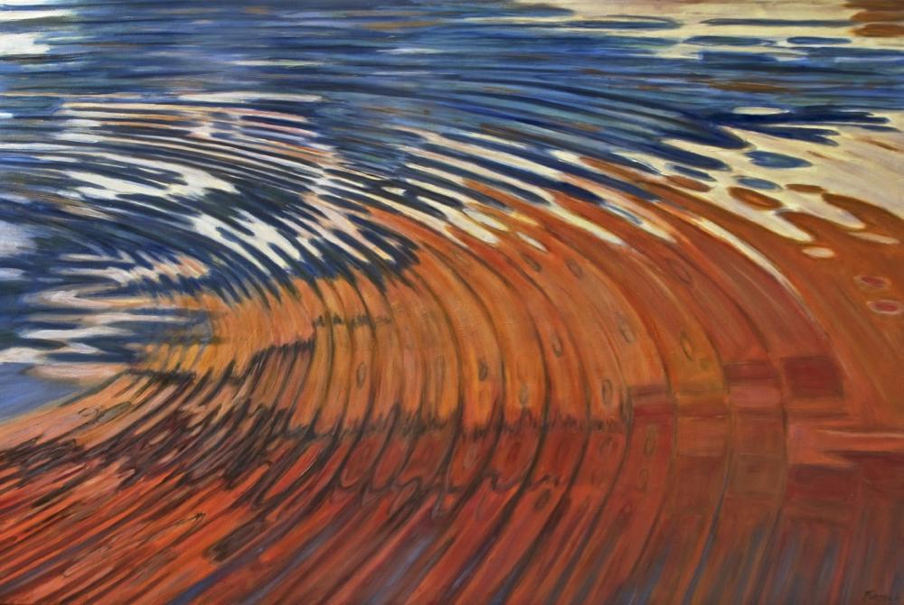 Jan Fordyce, Colliding Swirl, 40x60 oil, $4200.jpg