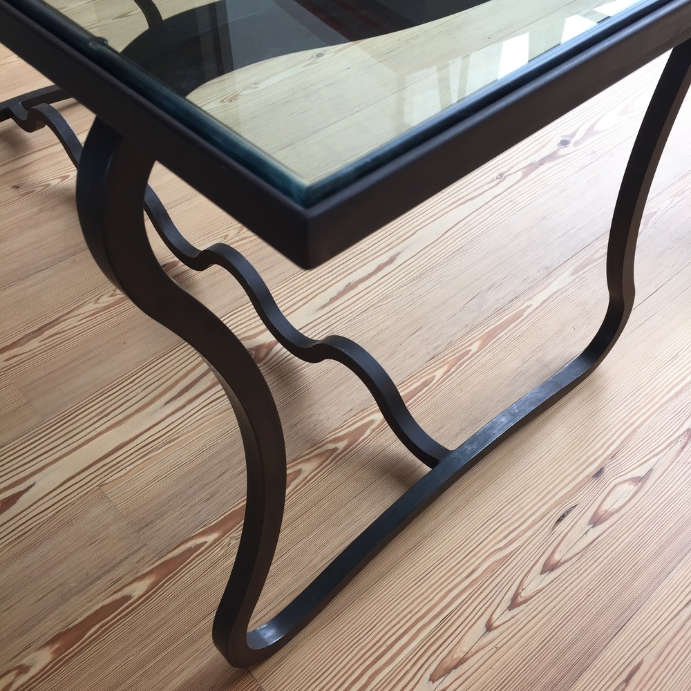 Custom iron table by Brent Trimble
