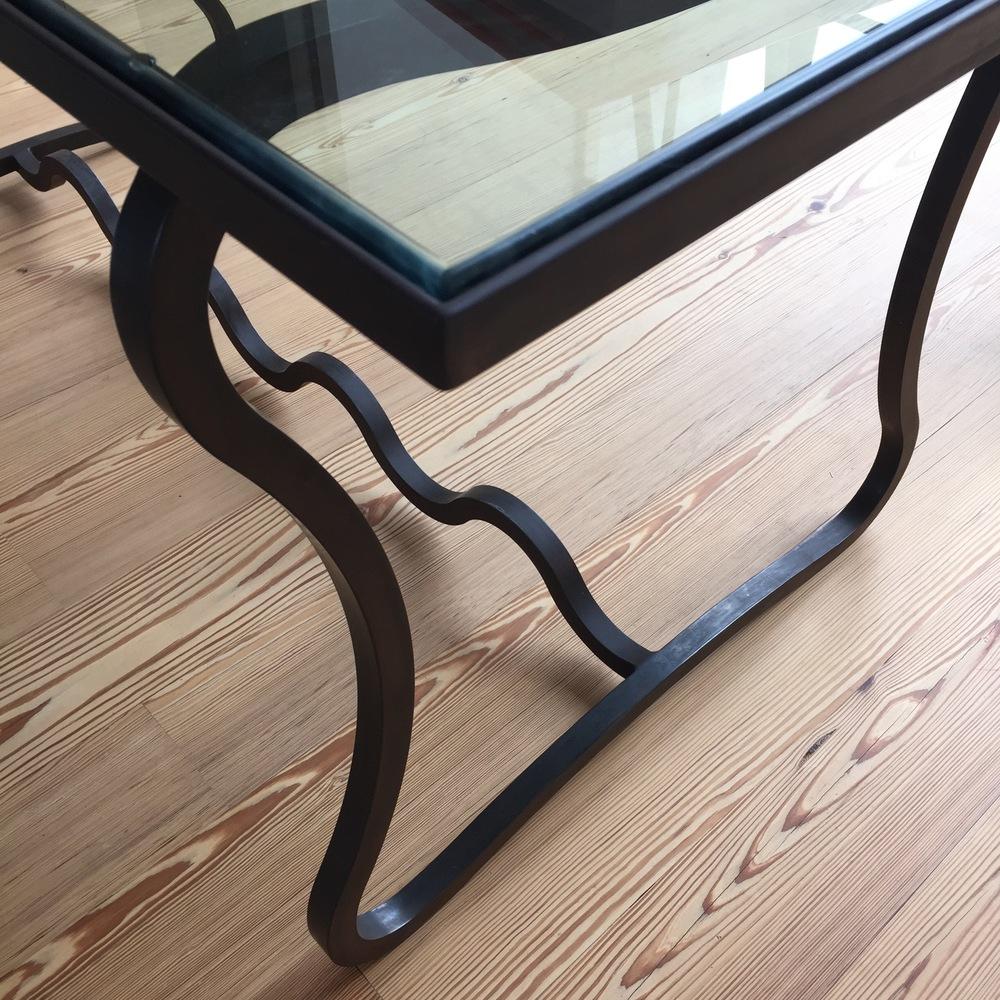 Custom iron table by Brent Trimble